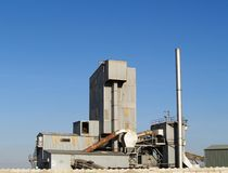 Asphalt and Tarmac Factory. Refinery and factory for Asphalt landscape view Stock Photography