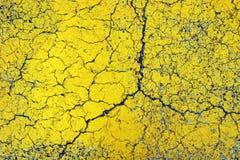 Asphalt Texture. Closeup of cracks on painted asphalt surface Stock Photography
