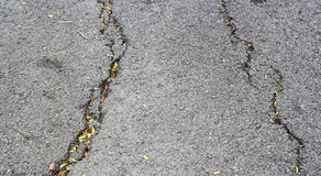 Asphalt texture with cracks Royalty Free Stock Photo