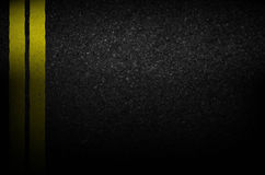 Asphalt texture with road markings background, illustration vect Stock Photos