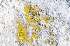 Asphalt texture in the snow stock photo