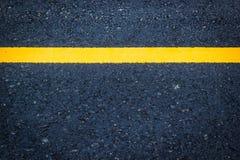 Asphalt texture  white yellow line Royalty Free Stock Photo