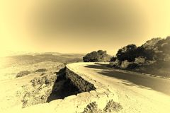 Asphalt to the Mount Tabor Royalty Free Stock Image