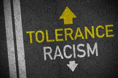 Asphalt with tolerance and racism vector illustration