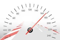 Asphalt track and speedometer Stock Image