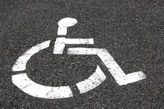 Asphalt Wheelchair Royalty Free Stock Image