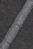 Asphalt with White Line Royalty Free Stock Photos
