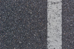 Asphalt with White Stripe Stock Image