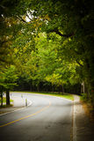 Asphalt winding curve road Stock Image