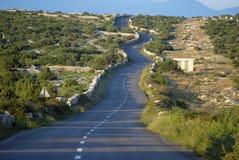 Asphalt winding road Stock Image