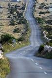 Asphalt Winding Road royalty-vrije stock afbeeldingen
