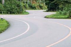 Asphalt Winding Road stock afbeelding