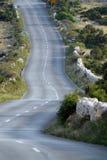 Asphalt winding road Stock Photo