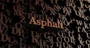 Asphalt - Wooden 3D rendered letters/message Royalty Free Stock Images