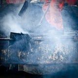 Asphalt worker Stock Image
