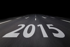 2015 on asphalt. 2015 written on a road Royalty Free Stock Image