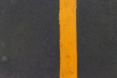 Asphalt with yellow  line Royalty Free Stock Photos