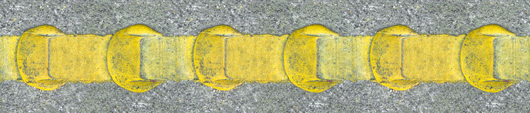 Asphalt yellow road lines Stock Photography