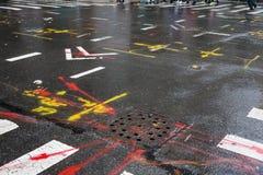 Asphalte à Manhattan, New York City photo libre de droits