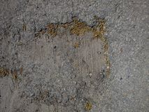 Asphalte détruit Photographie stock libre de droits