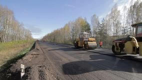asphalte de réparation de route banque de vidéos