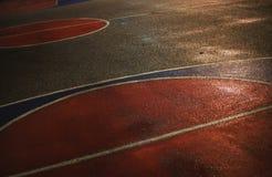 Asphalte de terrain de basket Photos stock