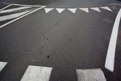 Asphalte et restriction de course de voiture Photographie stock