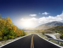 Asphalted road Royalty Free Stock Photos