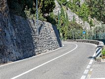 Asphalted Road curve mountain. Asphalted Road curve in the mountain Stock Image