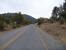 Asphalted road in northern patagonia Stock Photography