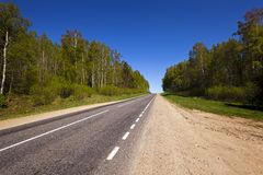 The asphalted road Stock Photography