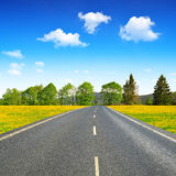 Asphalted road Royalty Free Stock Images