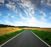 Asphalted road Royalty Free Stock Photography