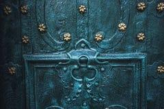 Asphaltieren Sie alte rostige verkratzte Oberflächenbeschaffenheit des blauen Schmutzes Stockfotografie