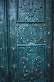 Asphaltieren Sie alte rostige verkratzte Oberflächenbeschaffenheit des blauen Schmutzes Lizenzfreies Stockbild