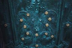 Asphaltieren Sie alte rostige verkratzte Oberflächenbeschaffenheit des blauen Schmutzes Lizenzfreie Stockfotos