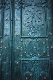 Asphaltieren Sie alte rostige verkratzte Oberflächenbeschaffenheit des blauen Schmutzes Lizenzfreie Stockbilder