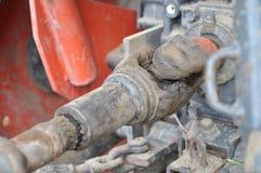 Asphaltieren Sie Stahlantriebsachse eine große Kugellagerunterstützung Lizenzfreie Stockfotografie