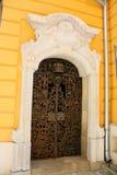 Asphaltieren Sie Tür auf Archiv von Ungarn in Pecs lizenzfreie stockbilder