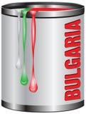 Asphaltieren Sie Zinn mit Farbenfarbflagge von BULGARIEN Stockbilder