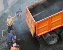 asphalting Royalty-vrije Stock Afbeeldingen