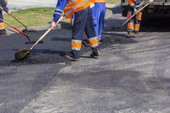Asphalting and Repair of roads Royalty Free Stock Images
