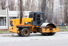 Asphalting of roads in the city Stock Photography