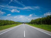 Asphaltstraße von Malaysia nach Thailand Stockbild