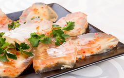 Aspic από το κρέας με τα καρότα Στοκ φωτογραφίες με δικαίωμα ελεύθερης χρήσης