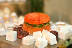 Aspic with carrot Royalty Free Stock Photography