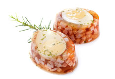 Aspic of egg Stock Images