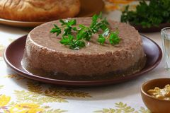 Aspic from goose stock photos