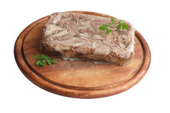 Aspic with greenery Stock Photo