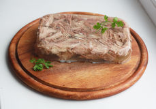 Aspic with greenery Royalty Free Stock Photography